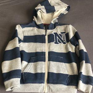 Size 3T nautical hooded zipper sweatshirt